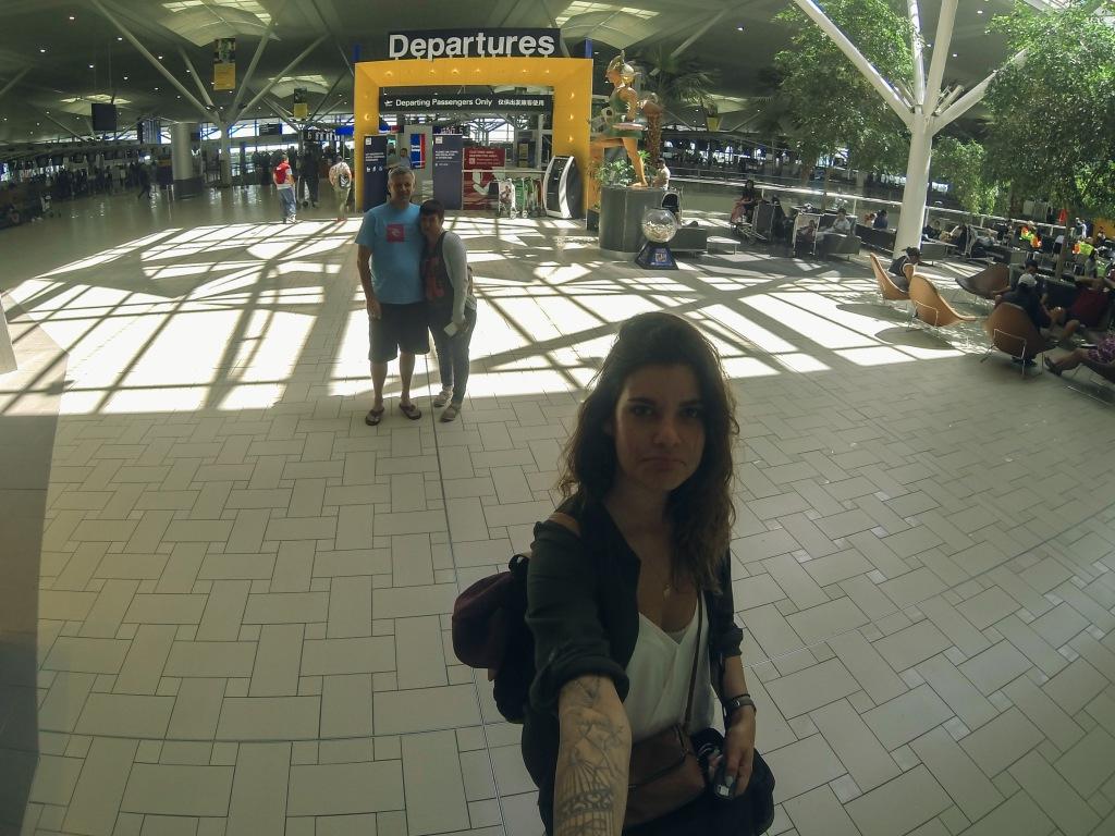 Départ de l'Aéroport de Brisbane..